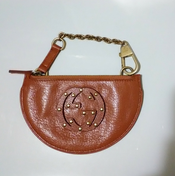 Gucci Handbags - Rare Gucci Leather Coin Purse Cardholder Keychain